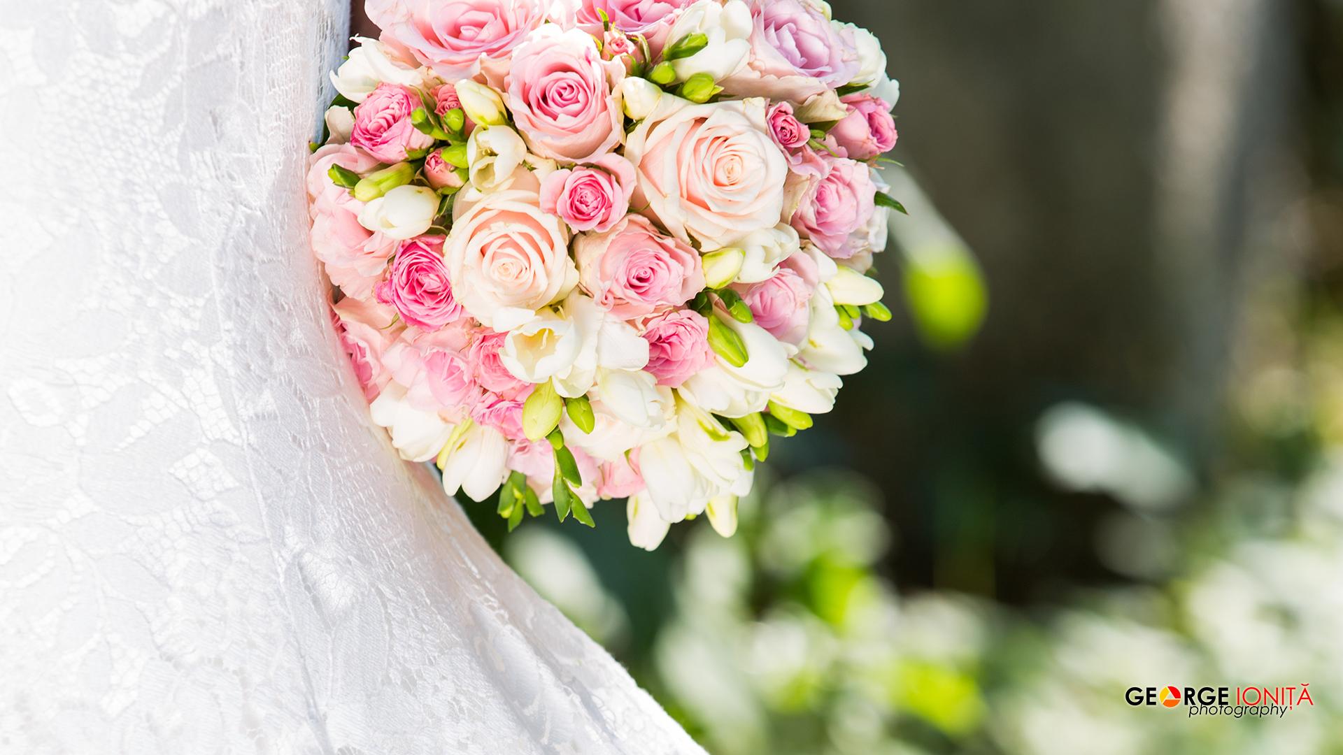 fotograf nunta buchet mireasa